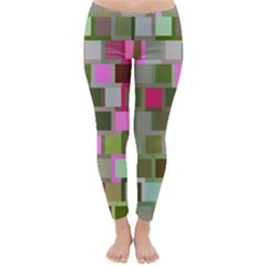 Color Square Tiles Random Effect Classic Winter Leggings