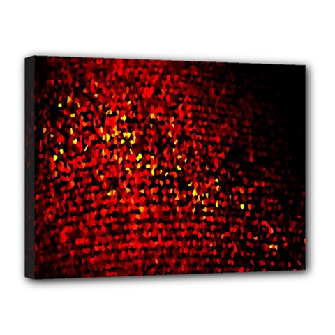Red Particles Background Canvas 16  X 12  by Nexatart