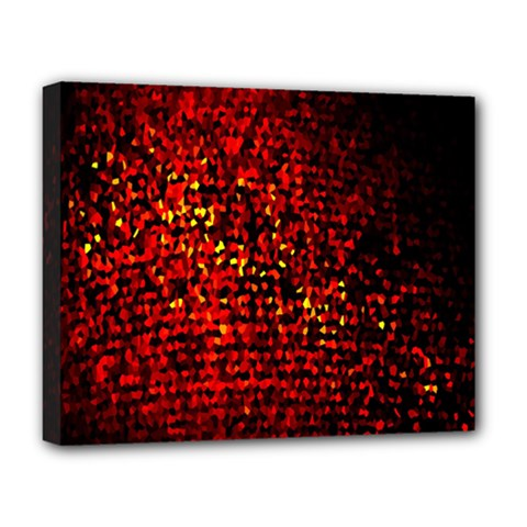 Red Particles Background Deluxe Canvas 20  X 16   by Nexatart