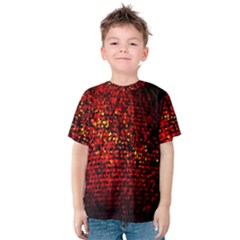 Red Particles Background Kids  Cotton Tee