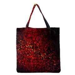 Red Particles Background Grocery Tote Bag by Nexatart