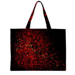 Red Particles Background Mini Tote Bag