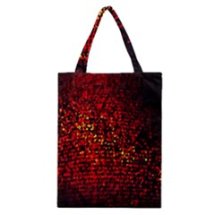 Red Particles Background Classic Tote Bag