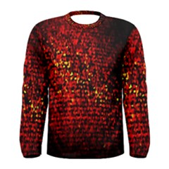 Red Particles Background Men s Long Sleeve Tee