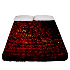 Red Particles Background Fitted Sheet (california King Size)