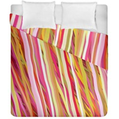 Color Ribbons Background Wallpaper Duvet Cover Double Side (california King Size)