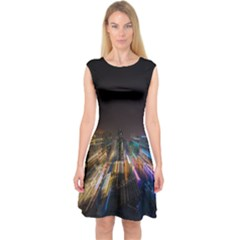 Frozen In Time Capsleeve Midi Dress