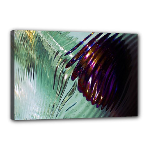 Out Of Time Glass Pearl Flowag Canvas 18  X 12  by Nexatart