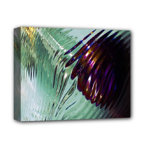 Out Of Time Glass Pearl Flowag Deluxe Canvas 14  X 11  by Nexatart