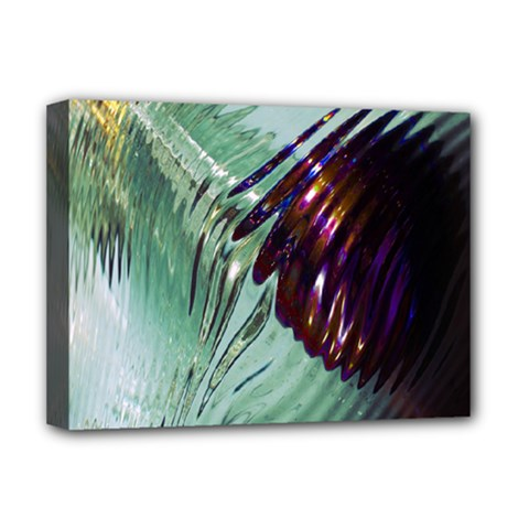 Out Of Time Glass Pearl Flowag Deluxe Canvas 16  X 12