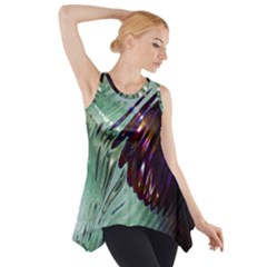 Out Of Time Glass Pearl Flowag Side Drop Tank Tunic