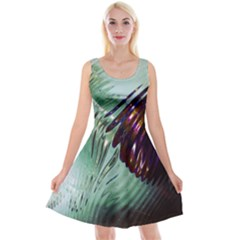 Out Of Time Glass Pearl Flowag Reversible Velvet Sleeveless Dress