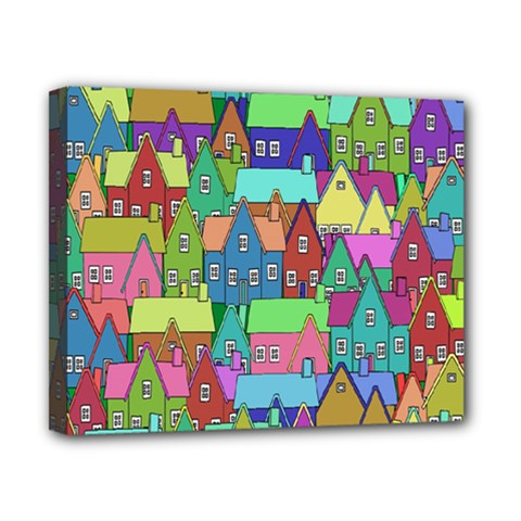 Neighborhood In Color Canvas 10  X 8  by Nexatart