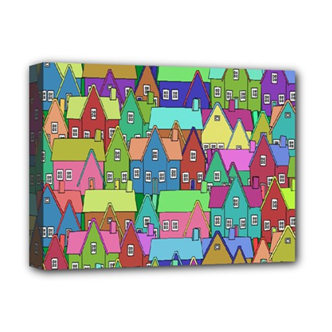 Neighborhood In Color Deluxe Canvas 16  X 12   by Nexatart