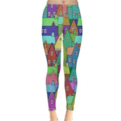 Neighborhood In Color Leggings  by Nexatart