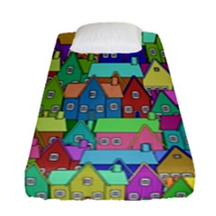 Neighborhood In Color Fitted Sheet (single Size)