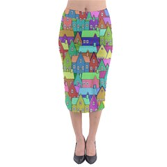 Neighborhood In Color Midi Pencil Skirt by Nexatart