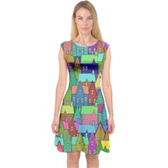 Neighborhood In Color Capsleeve Midi Dress