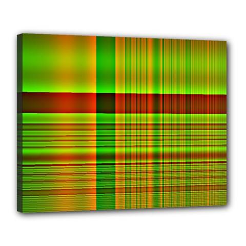 Multicoloured Background Pattern Canvas 20  X 16  by Nexatart