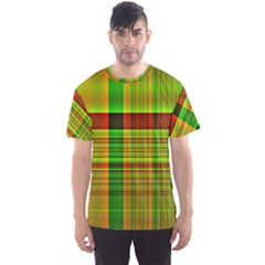 Multicoloured Background Pattern Men s Sport Mesh Tee