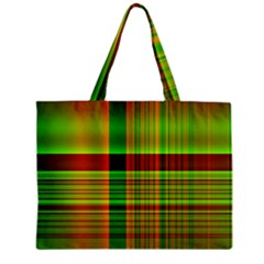 Multicoloured Background Pattern Zipper Mini Tote Bag by Nexatart