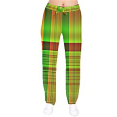 Multicoloured Background Pattern Drawstring Pants