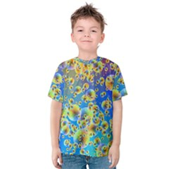 Color Particle Background Kids  Cotton Tee