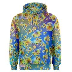 Color Particle Background Men s Pullover Hoodie