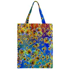 Color Particle Background Zipper Classic Tote Bag by Nexatart
