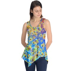Color Particle Background Sleeveless Tunic