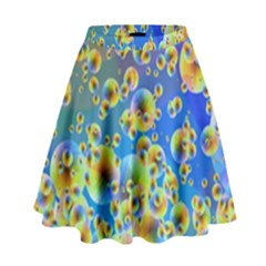 Color Particle Background High Waist Skirt by Nexatart