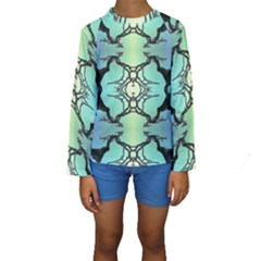 Branches With Diffuse Colour Background Kids  Long Sleeve Swimwear by Nexatart