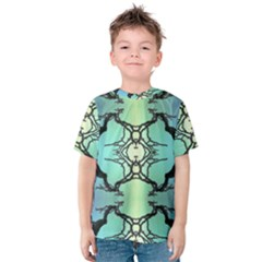 Branches With Diffuse Colour Background Kids  Cotton Tee