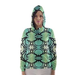 Branches With Diffuse Colour Background Hooded Wind Breaker (women)