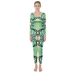 Branches With Diffuse Colour Background Long Sleeve Catsuit
