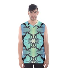 Branches With Diffuse Colour Background Men s Basketball Tank Top