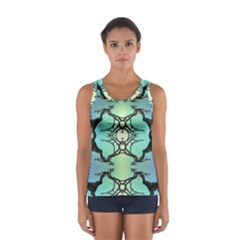 Branches With Diffuse Colour Background Women s Sport Tank Top