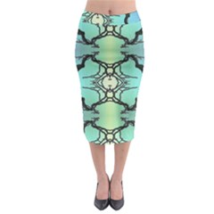 Branches With Diffuse Colour Background Midi Pencil Skirt