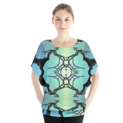 Branches With Diffuse Colour Background Blouse