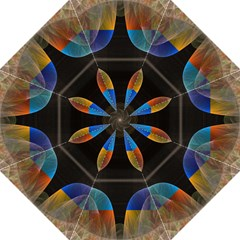 Black Cross With Color Map Fractal Image Of Black Cross With Color Map Hook Handle Umbrellas (medium)