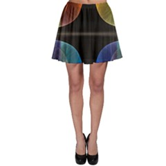 Black Cross With Color Map Fractal Image Of Black Cross With Color Map Skater Skirt