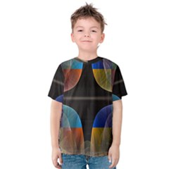 Black Cross With Color Map Fractal Image Of Black Cross With Color Map Kids  Cotton Tee