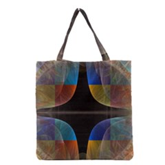 Black Cross With Color Map Fractal Image Of Black Cross With Color Map Grocery Tote Bag by Nexatart