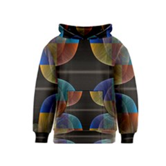 Black Cross With Color Map Fractal Image Of Black Cross With Color Map Kids  Pullover Hoodie by Nexatart