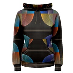 Black Cross With Color Map Fractal Image Of Black Cross With Color Map Women s Pullover Hoodie
