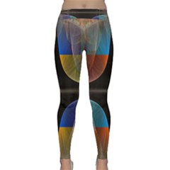Black Cross With Color Map Fractal Image Of Black Cross With Color Map Classic Yoga Leggings