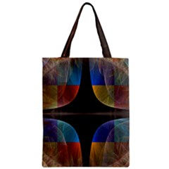 Black Cross With Color Map Fractal Image Of Black Cross With Color Map Zipper Classic Tote Bag by Nexatart