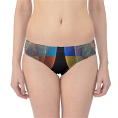 Black Cross With Color Map Fractal Image Of Black Cross With Color Map Hipster Bikini Bottoms