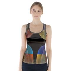 Black Cross With Color Map Fractal Image Of Black Cross With Color Map Racer Back Sports Top by Nexatart