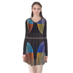 Black Cross With Color Map Fractal Image Of Black Cross With Color Map Flare Dress